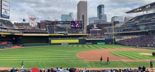 Target Field, section: 121, row: 11, seat: 14
