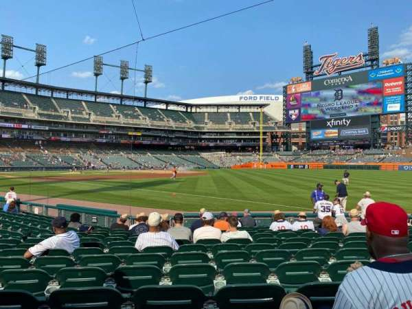 Comerica Park, section: 114, row: 14, seat: 7