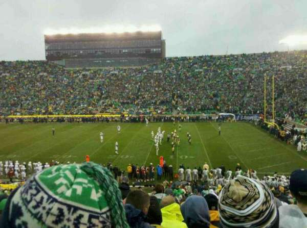 Notre Dame Stadium, section: 7, row: 45, seat: 10