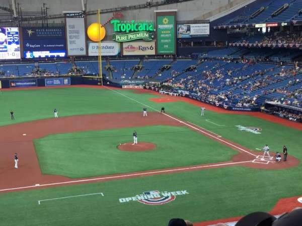 Tropicana Field, section: 211, row: G, seat: 8