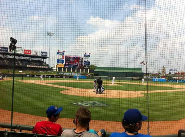 Dell Diamond, section: 119, row: 4, seat: 16