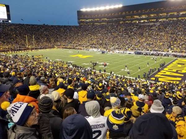 Michigan Stadium, section: 18, row: 47, seat: 3