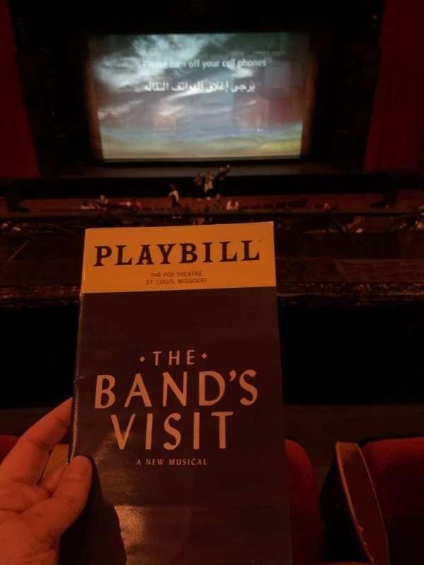 The Fabulous Fox Theatre (St. Louis), section: Mezzanine, row: BB, seat: 107