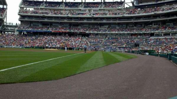 Nationals Park, section: 110, row: A, seat: 10