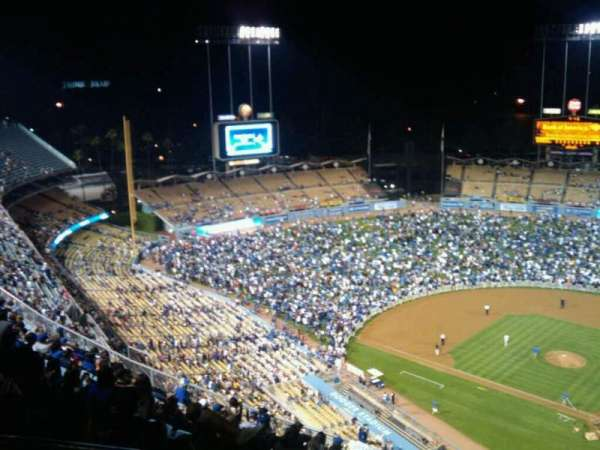 Dodger Stadium, section: Top Deck, row: P, seat: 21