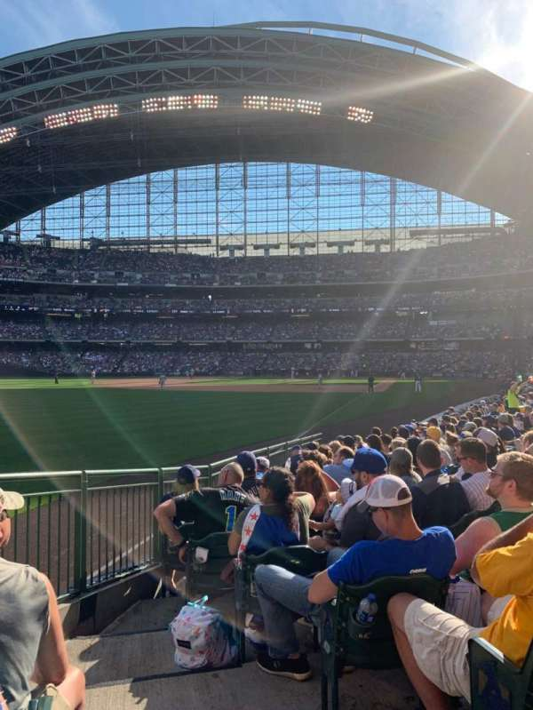 Miller Park, section: 130, row: 12, seat: 1