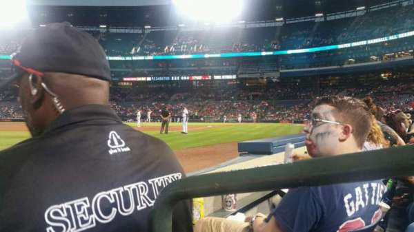 Turner Field, section: 122L, row: 2, seat: 1