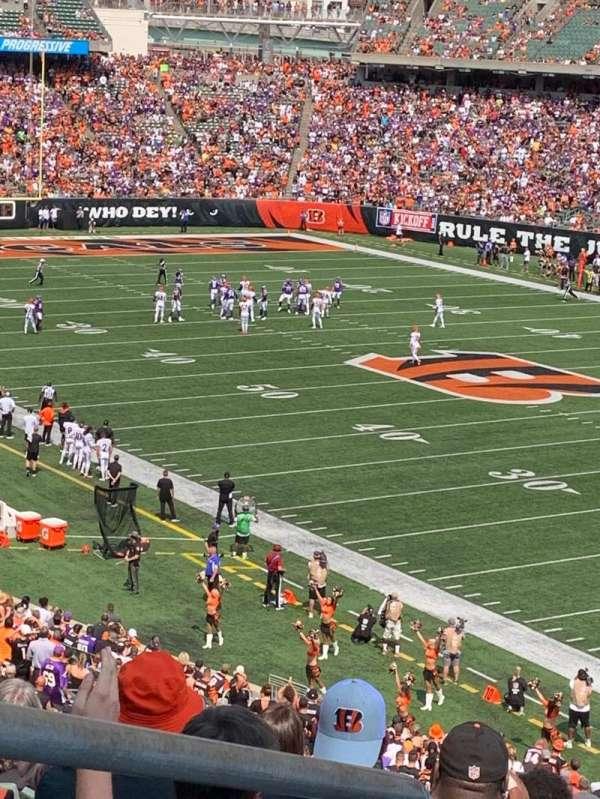 Paul Brown Stadium, section: 202, row: 8, seat: 13