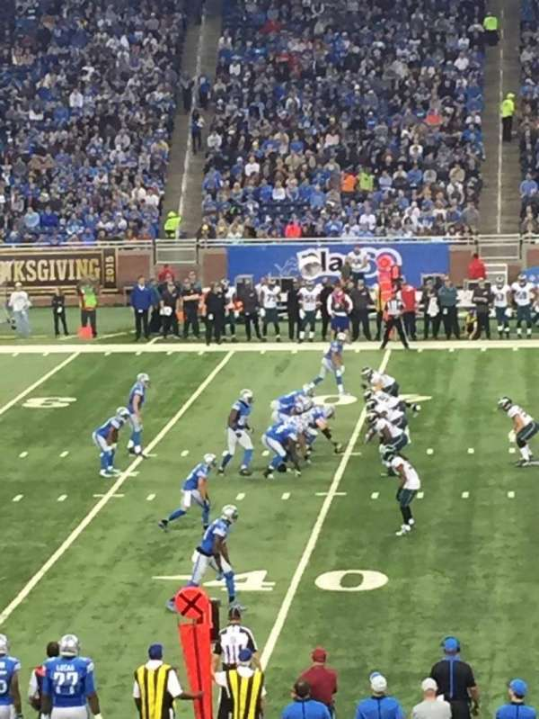 Ford Field, section: 105, row: 18, seat: 3
