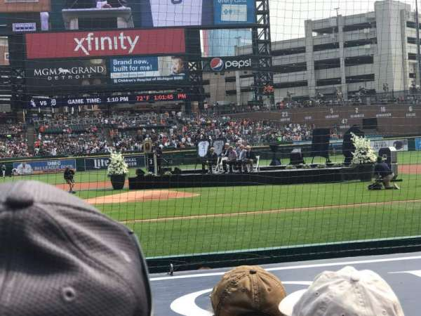 Comerica Park, section: 123, row: 10, seat: 7