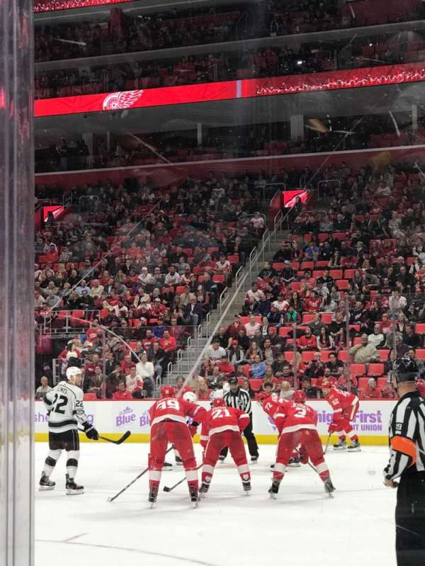 Little Caesars Arena, section: 118, row: 1, seat: 1