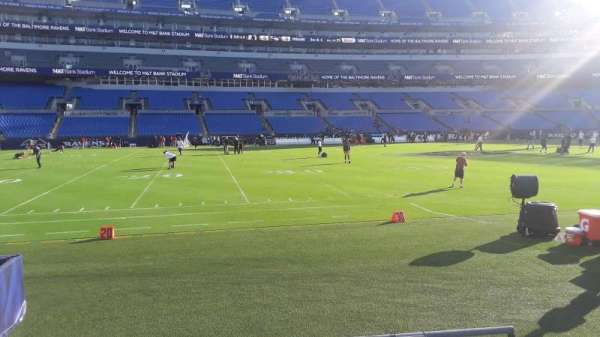 M&T Bank Stadium, section: 102, row: 4, seat: 1
