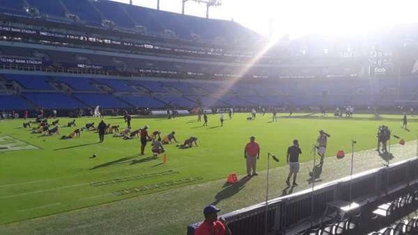 M&T Bank Stadium, section: 107, row: 4, seat: 1