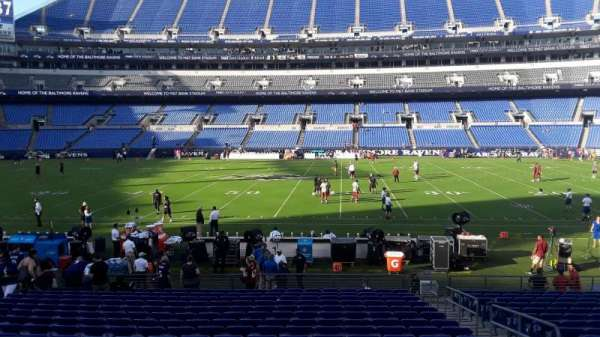 M&T Bank Stadium, section: 126, row: 16W, seat: 3