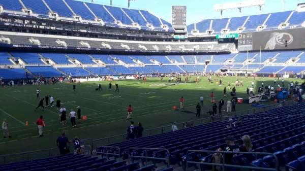 M&T Bank Stadium, section: 132, row: 18, seat: 8
