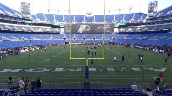 M&T Bank Stadium, section: 140, row: 16W, seat: 8