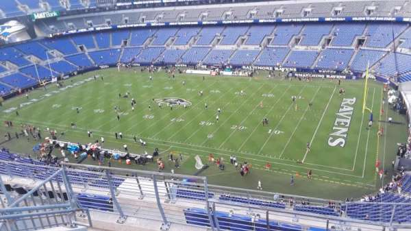 M&T Bank Stadium, section: 522, row: 8, seat: 8