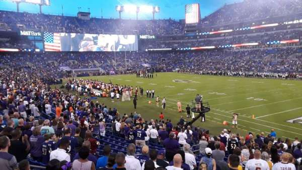 M&T Bank Stadium, section: 147, row: 21, seat: 1