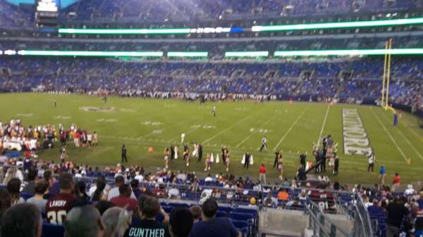 M&T Bank Stadium, section: 150, row: 28, seat: 1