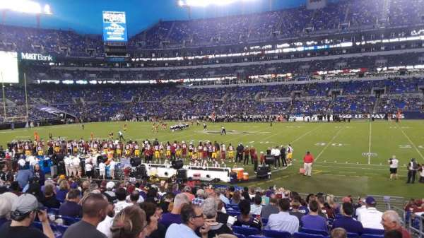 M&T Bank Stadium, section: 152, row: 18, seat: 1