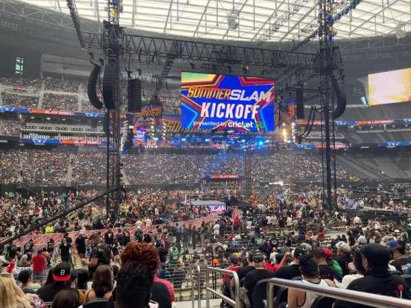 Allegiant Stadium, section: C115, row: 9, seat: 1