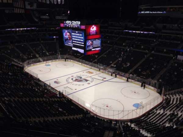 Pepsi Center, section: 372, row: 10, seat: 1
