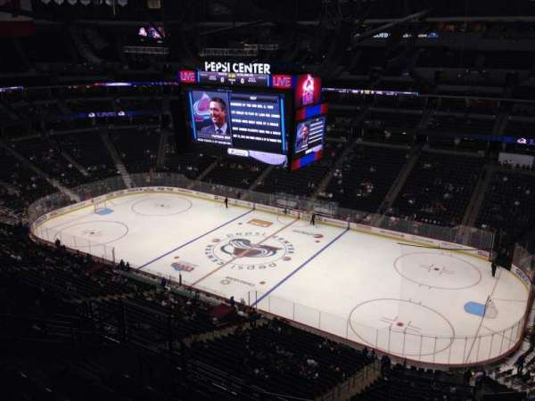 Pepsi Center, section: 376, row: 10, seat: 1