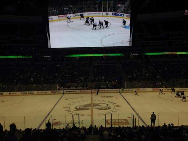 Pepsi Center, section: 124, row: 20, seat: 1