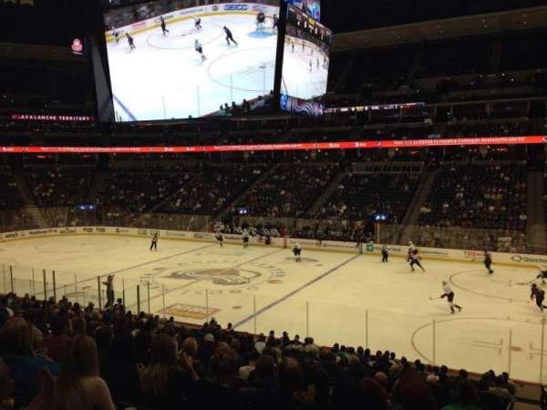 Pepsi Center, section: 120, row: 20, seat: 1