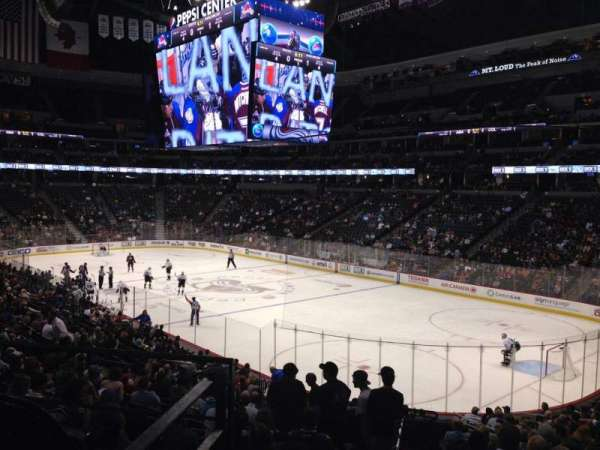 Pepsi Center, section: 142, row: 20, seat: 1