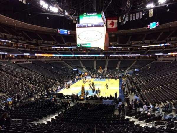 Pepsi Center, section: 134, row: 20, seat: 16