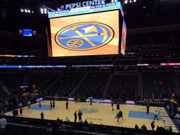 Pepsi Center, section: 122, row: 22, seat: 18