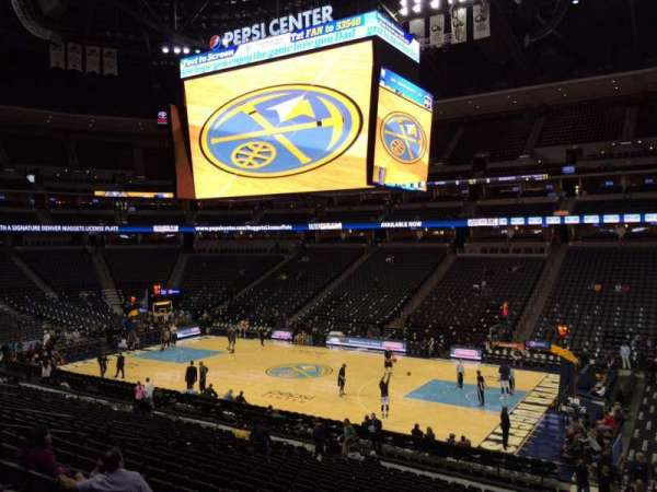 Pepsi Center, section: 120, row: 19, seat: 26