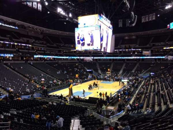 Pepsi Center, section: 108, row: 22, seat: 20