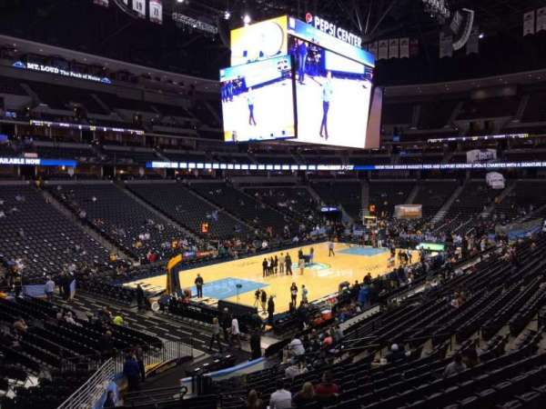 Pepsi Center, section: 106, row: 19, seat: 26