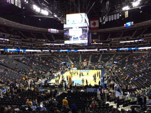 Pepsi Center, section: 134, row: 22, seat: 18