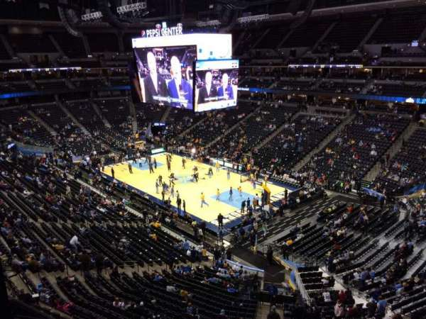 Pepsi Center, section: 331, row: 20, seat: 3