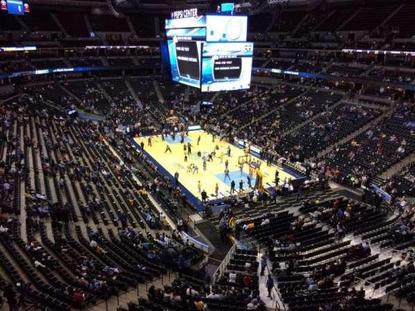 Pepsi Center, section: 327, row: 2, seat: 1