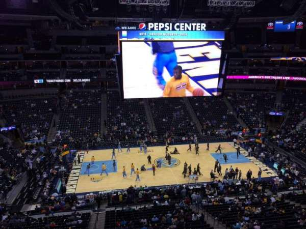 Pepsi Center, section: 302, row: 3, seat: 20