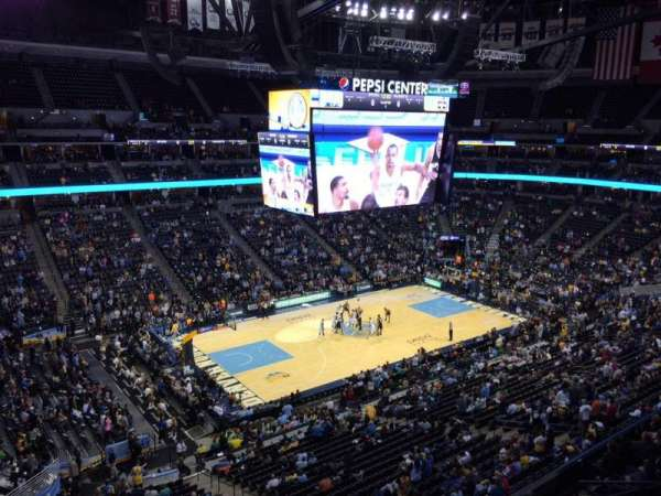 Pepsi Center, section: 349, row: 3, seat: 20