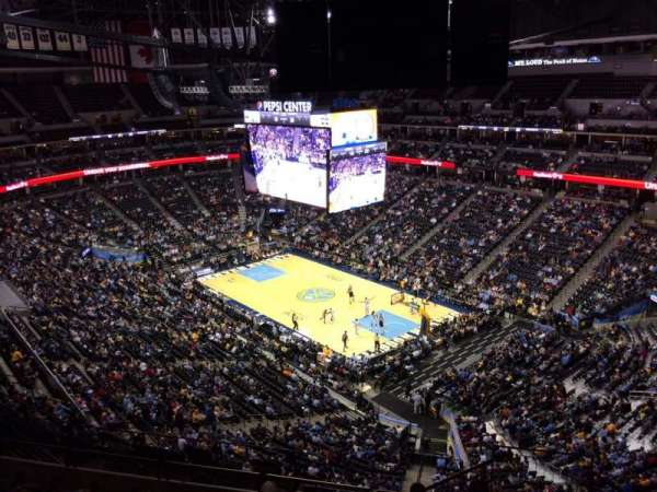 Pepsi Center, section: 372, row: 12, seat: 1