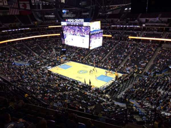 Pepsi Center, section: 374, row: 12, seat: 1