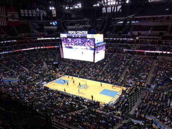 Pepsi Center, section: 376, row: 12, seat: 1