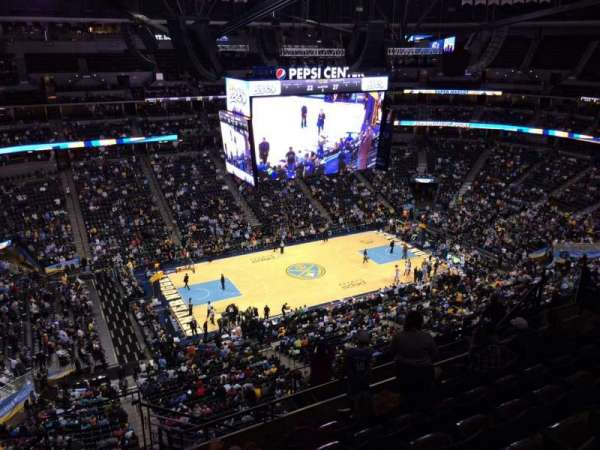Pepsi Center, section: 308, row: 12, seat: 1