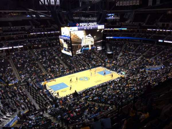 Pepsi Center, section: 310, row: 12, seat: 1