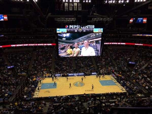 Pepsi Center, section: 344, row: 10, seat: 1