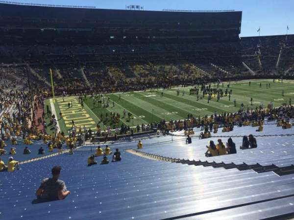 Michigan Stadium, section: 27, row: 64, seat: 9
