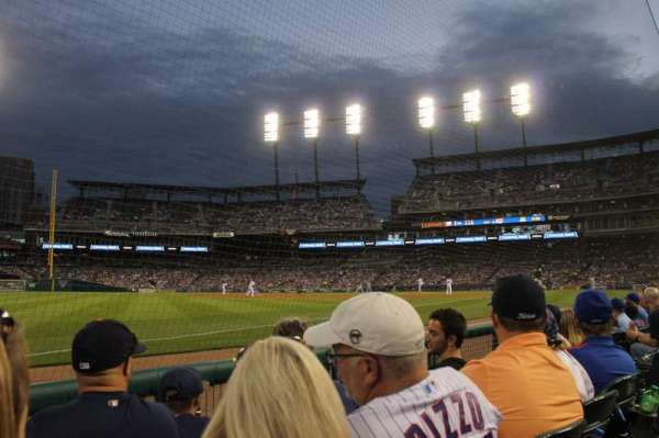 Comerica Park, section: 140, row: 3, seat: 5