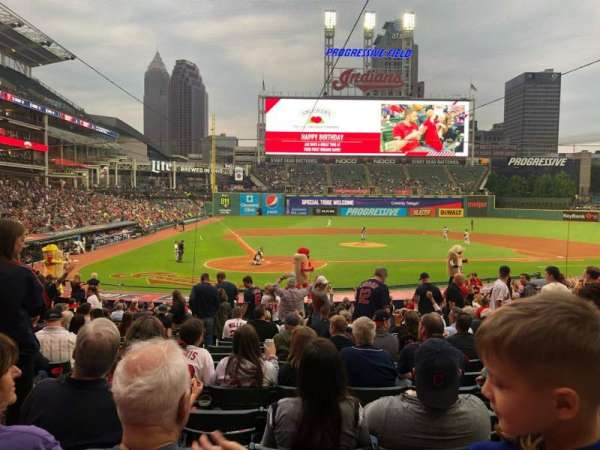 Progressive Field, section: 150, row: AA, seat: 11