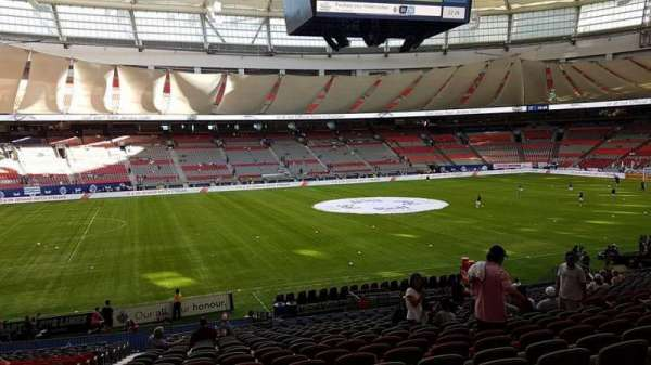 BC Place, section: 217, row: DD, seat: 1
